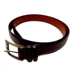 Crookhorn Davis Leather Belt Dark Brown Sz 40
